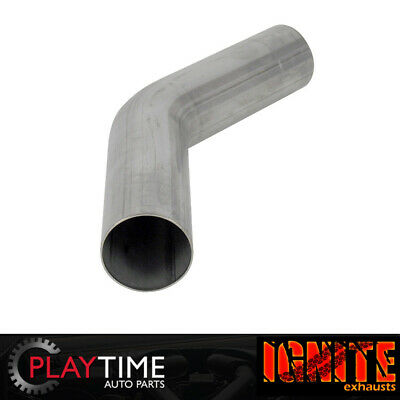 """Exhaust Pipe Mandrel Bend - 3"""" Inch 45 Degree (76mm) Stainless Steel"""