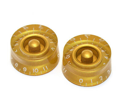 Gold Speed Knobs for Import Guitar//Bass w//Coarse 6mm Split Pots PK-MSI-G 2