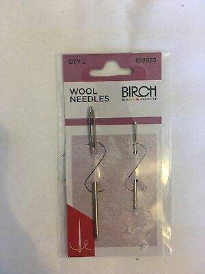 Birch Wool needles, 2 needles. new, unopened