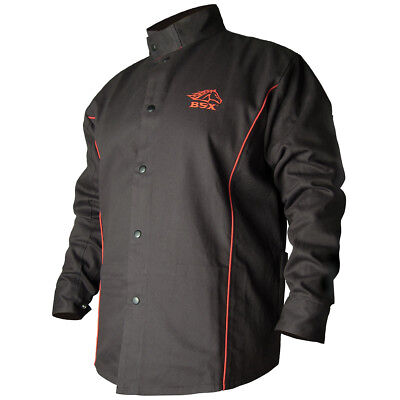 BSX Contoured FR Cotton Welding Jacket, Black size M