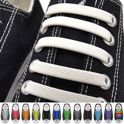 16pcs Lazy Elastic Silicone Shoelaces No Tie Running Sneakers Strings for Adults