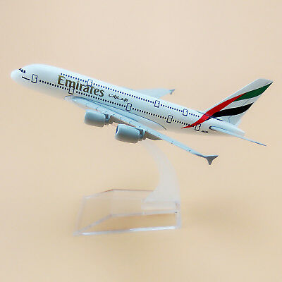 16cm Airplane Model Plane Air Emirates Airlines Airbus 380 A380 Aircraft Model
