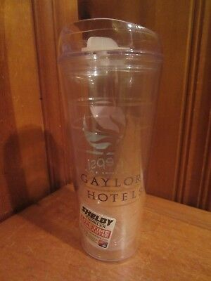 Shelby 22oz  Double Wall Insulated Clear Tumbler Travel Cup Pepsi Gaylord Hotels
