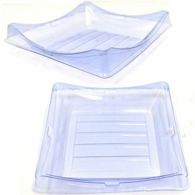 Clear Sushi Containers 7.2x7.2x1.4 (300 Sets)