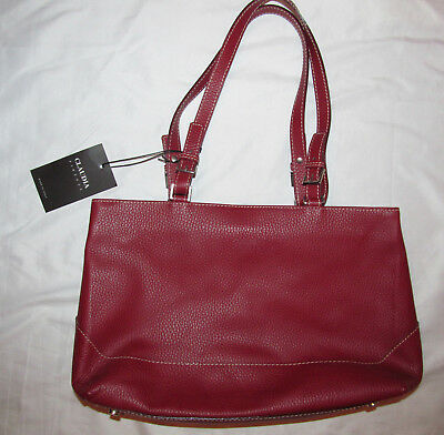 CLAUDIA FIRENZE brick red pebbled leather shoulder bag NWT 86a642ee72c56