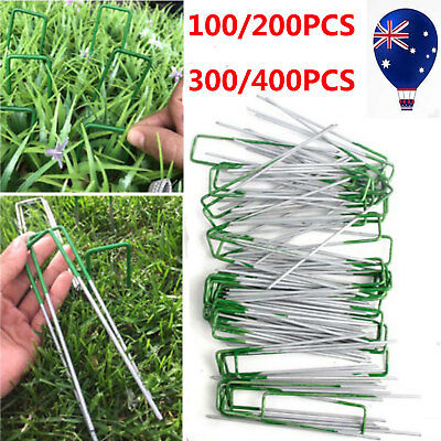 Heavy Duty U Anchor Pins Pegs for Weed Mat Turf Pins Pegs Lawn Weed Mat Pins