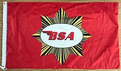 BSA MOTORCYCLE FLAG BANNER 3X5 ace cafe racer racing british biker ton up club