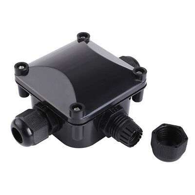 HOT Waterproof Junction Box Case Cable 3-way Wire Connector Outdoor Black Color