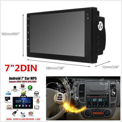 "2 DIN 7"" Car Radio Stereo MP5 Player Quad Core Android 6.0 GPS Nav WIFI RDS TMPS"