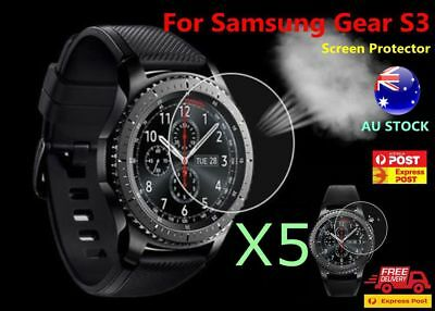 5x Tempered Screen Protector Genuine Anti-Explosion HD for Samsung Gear S3