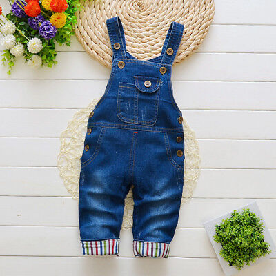 Kids Girl Baby Boy Casual Clothes Kid Boys Denim Pockrt Jeans Overalls Jumpers