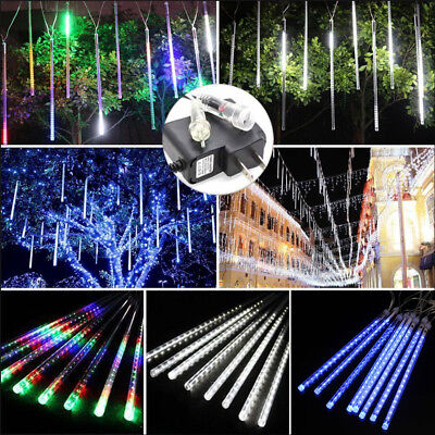 4M 8 Tube Meteor Shower Falling Star/Rain Drop/Icicle Snow LED Tree String Light