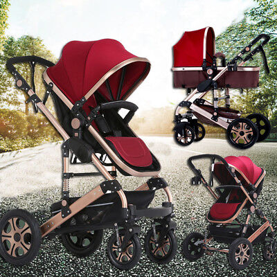 NEWBORN ChILD BABY REVERSIBLE JOGGER PRAM PUSHCHAIR STROLLER BASSINET 8 IN 1
