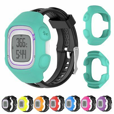Protective Silicone Cover Case Skin For Garmin Forerunner 10 15 GPS Watch Band