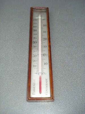 "Large 10 1/2""  Box Thermometer For Barometer Parts Spares"