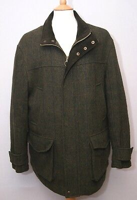 "PG Field men's warm wool shooting style country coat jacket L 42"" 107cm"