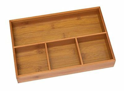 Wooden Desk Organizer Office Supplies Wood Mesh Tray Drawer Compartment Case New