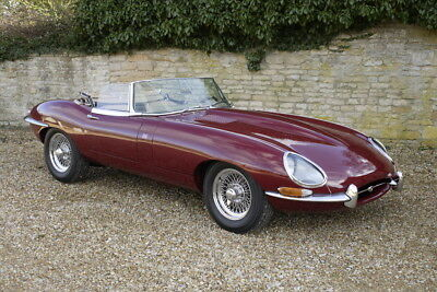 1966 Jaguar E-type Roadster OTS 4.2 Series 1 with matching hardtop.