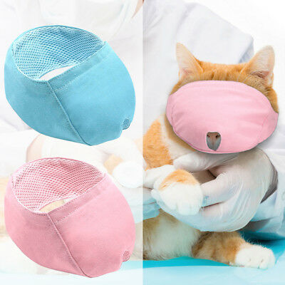 Cat Muzzle Nylon Muzzle for Cats Adjustable Mesh Padded Mouth Mask Cover No Bite
