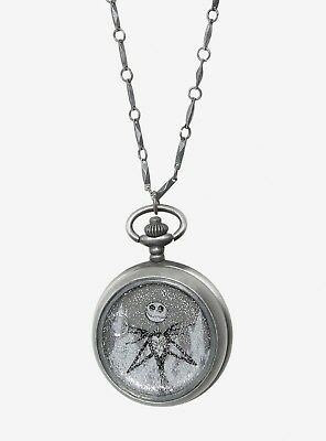 Disney Nightmare Before Christmas Pocket Watch Necklace NEW