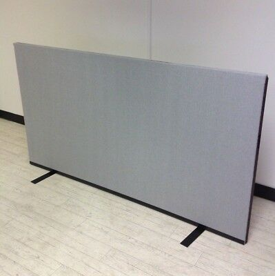 1800W x 1000H Silver Grey Woolmix PanelWarehouse Office Screen Divider Partition