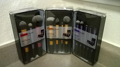 ->3 Brush Set Real Techniques Core Collection Eyes Starter Kit Travel Essentials