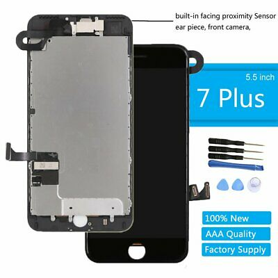 For iPhone 7 Plus LCD Screen Black Replacement Display Touch Digitizer Earpiece