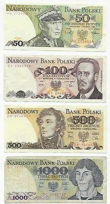 Poland 4 Circulated Bills