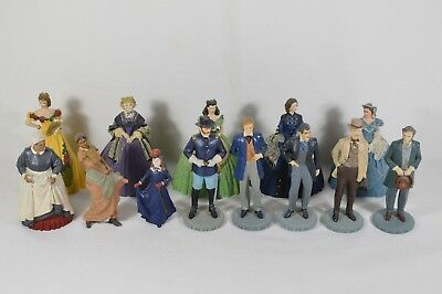 LOT of 12 Vtg 1989-1990 The Franklin Mint Gone With The Wind Figurines