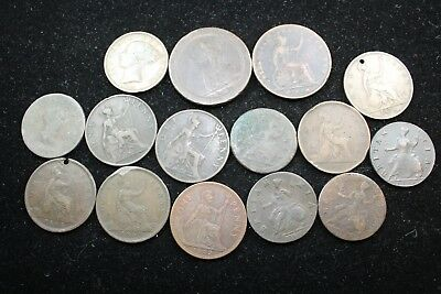 Great Britain 15 assorted coins   lot H 780