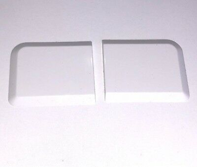 Small Window Sill End Caps 1 x Pair White 50mm x 42mm Chamfered Edges