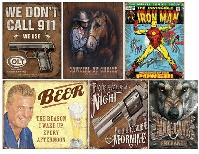 "BEER RETRO VINTAGE RUSTY TIN SIGN WALL ART WESTERN HOME DECOR 16"" x 13"" NEW"