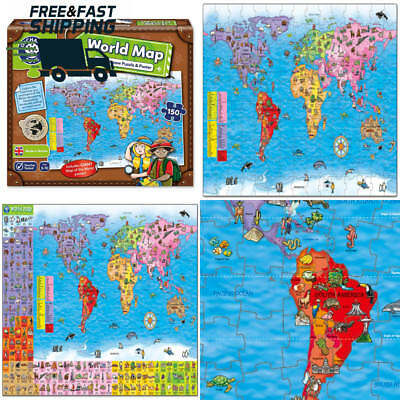 Orchard toys world map puzzle poster giant jigsaw kids geography orchard toys world map jigsaw puzzle and poster gumiabroncs Choice Image