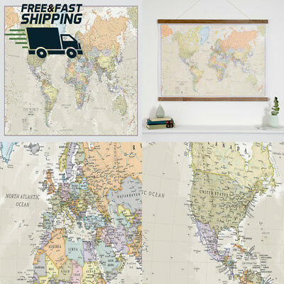 World Map Classic - Front Sheet Lamination A1 84.1 (w) x 59.4 (h) cm