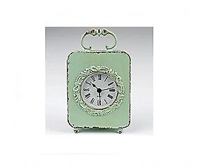 Distressed Vintage French Chabby Chic Mantel Carriage Clock Roman Numerals
