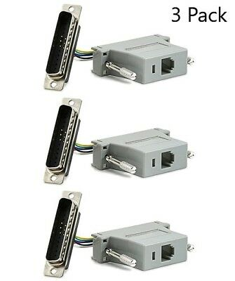 5Pieces DB25 DB-25 Male Parallel Connector Modular Adapter RJ45 Cat5 8P8C