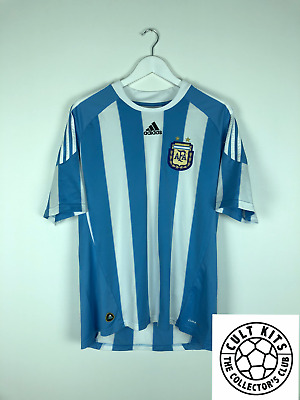 ARGENTINA 10/11 Home Football Shirt (L) Soccer Jersey World Cup 2010