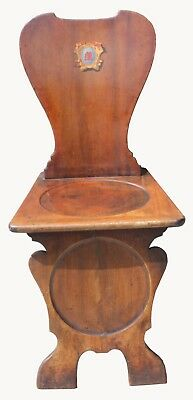 A George 111 Mahogany Hall Chair