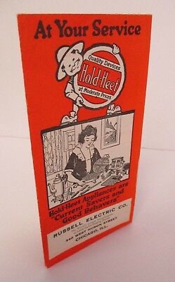1920s HOLD-HEET Appliances Brochure, Russell Electric Co, Chicago
