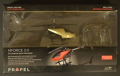 NEW IN BOX Propel 8020523 N-force 2.0 3.5 Channel Gyro Helicopter Remote Control