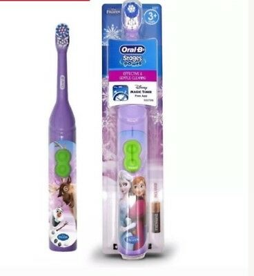 2X Oral-B Stages Power Disney Frozen Kids Battery Toothbrush