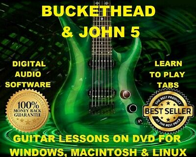 Buckethead 904 & John 5 - 105 Guitar Tabs Software Lesson CD 52 Backing Tracks