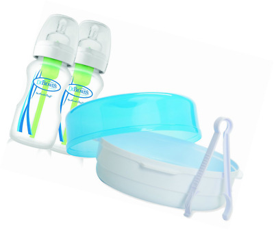 Dr Brown's Options Microwave Steriliser Wide Neck Bottles (270 ml, Pack of 2)