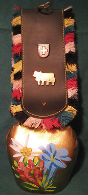 Vintage Heavy Large Swiss Copper Metal Cow Bell