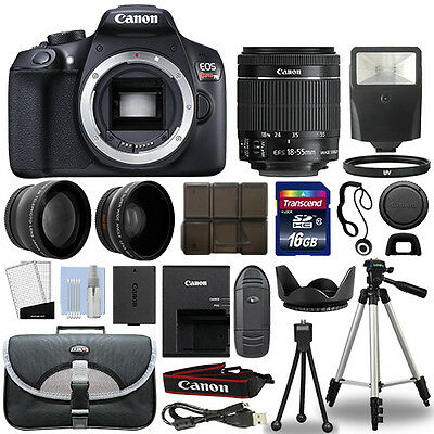 Canon T6 Digital SLR Camera + 18-55mm IS II 3 Lens Kit + 16GB Top Value Bundle