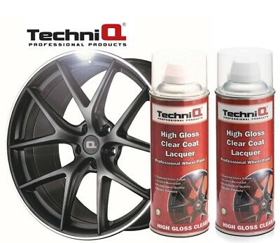 Alloy Wheel Clear Coat High Gloss Lacquer Spray  2 x 400ml CANS TECHNIQ BRAND