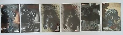 Venom #1 ,2, 3 ,4 Dell'otto Colour , Black & White 6 Marvel Comics