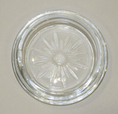 """1 Replacement Frank M Whiting Glass base for vintage Silver rimmed 3.5"""" coaster"""
