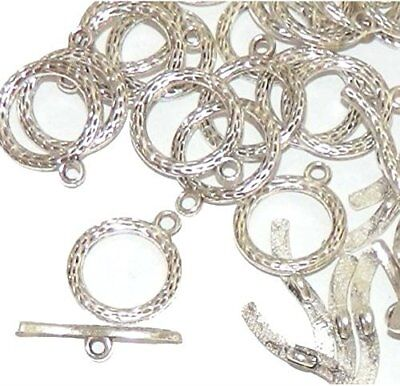 """Rockin Beads Brand 19 Antique Silver 3/4"""" Toggle Clasps 20Mm Sold Per Pack Of Se"""