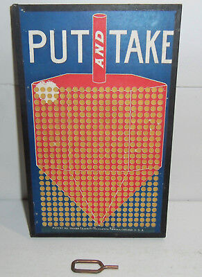 Put and Take Original 1922 Unpunched Vintage Punchboard Trade Stimulator Dreidel